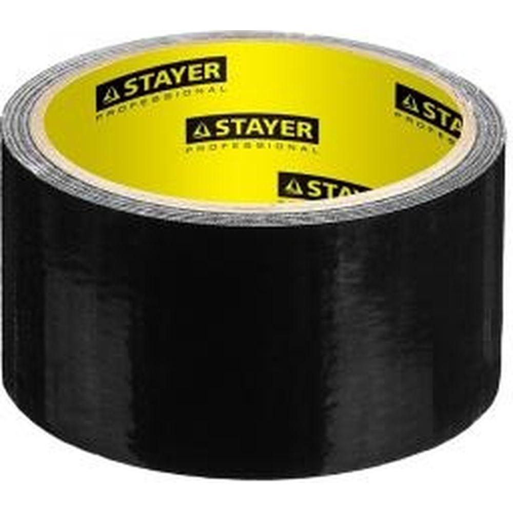 Армированная лента на тканевой основе STAYER черный 50мм х 10м 12086-50-10