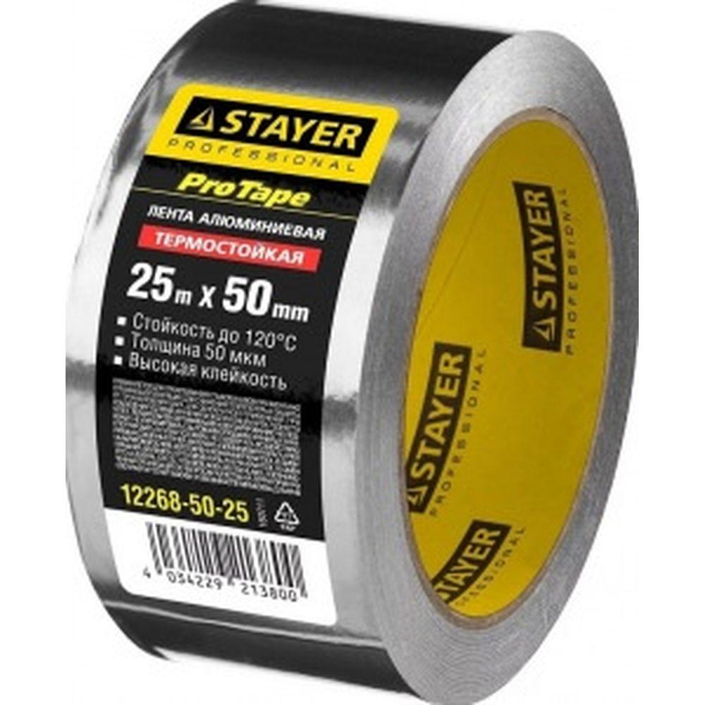 Алюминиевая лента STAYER, до 120С, 50мкм, 50мм х 25м 12268-50-25
