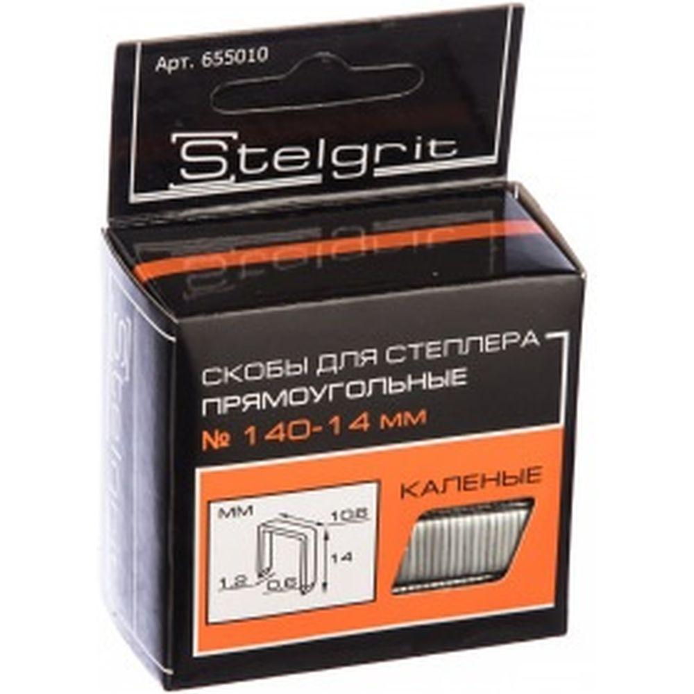 Cкоба каленая для мебельного степлера (1000 шт; 14x1.2 мм; Тип 140) Stelgrit 655010
