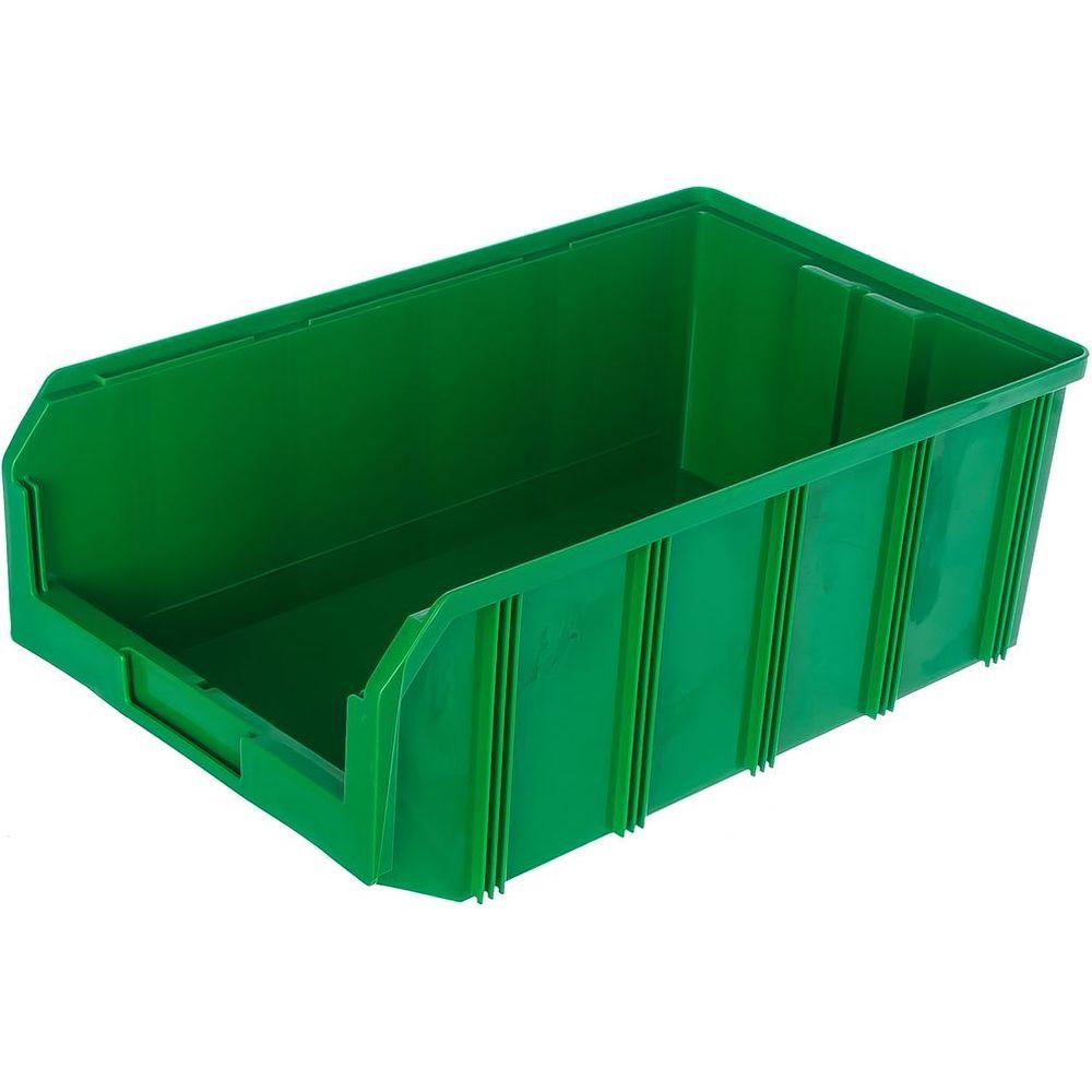 Пластиковый зеленый ящик 502х305х184 Стелла V-4