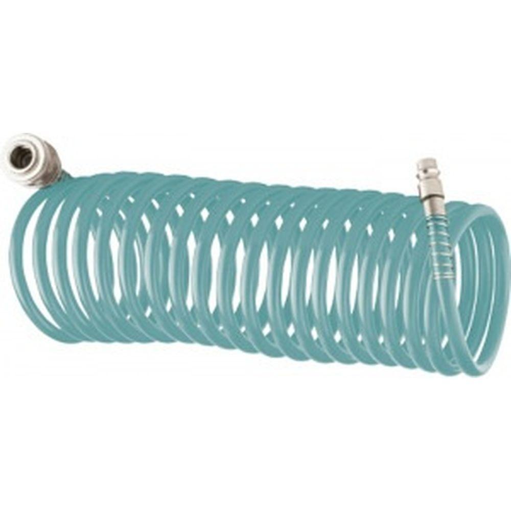 Полиуретановый спиральный шланг с быстросъемными соединениями (6х8 мм; 15 м)Stels 57009