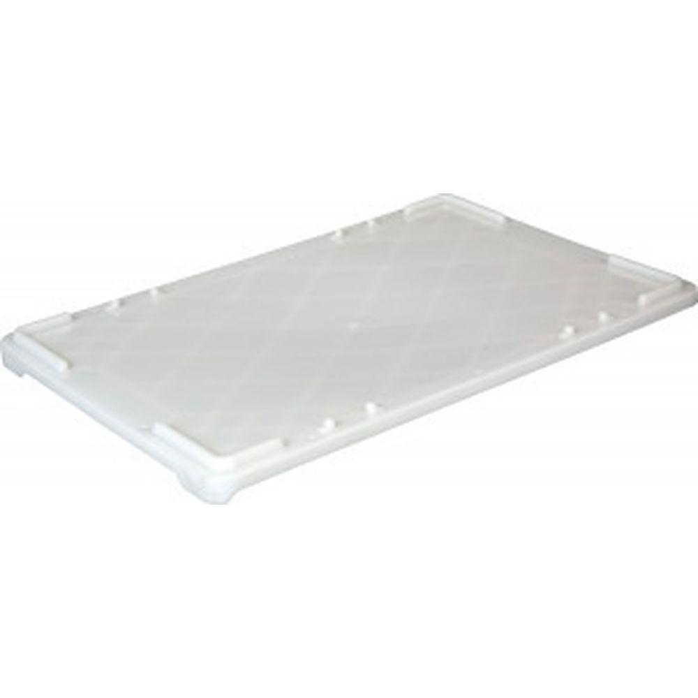 Крышка для прямоугольных ящиков ТАРА 600х400 мм, белая, морозостойкая 06099