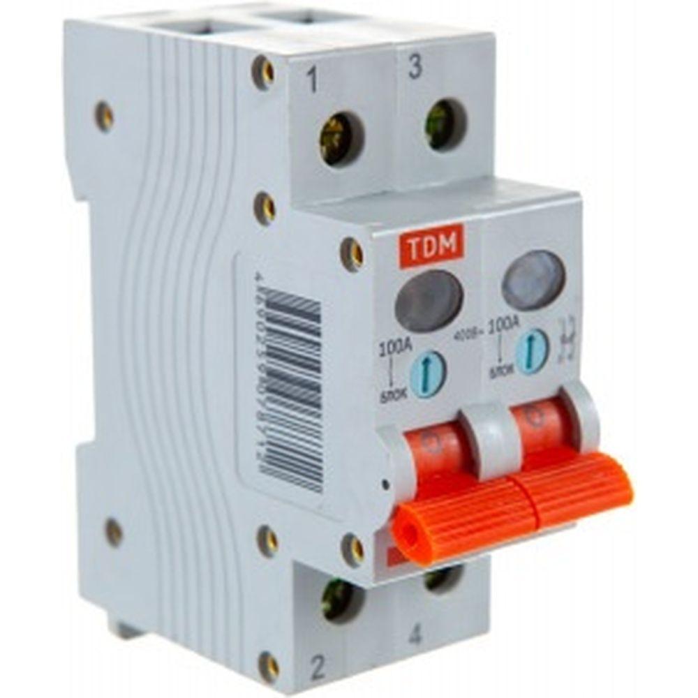 Выключатель нагрузки мини-рубильник TDM ВН-32 2P 100A SQ0211-0019