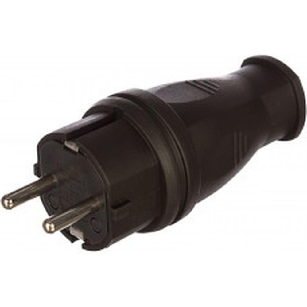 Прямая вилка каучук TDM 2Р+РЕ 16А 250В IP44 SQ0612-0001