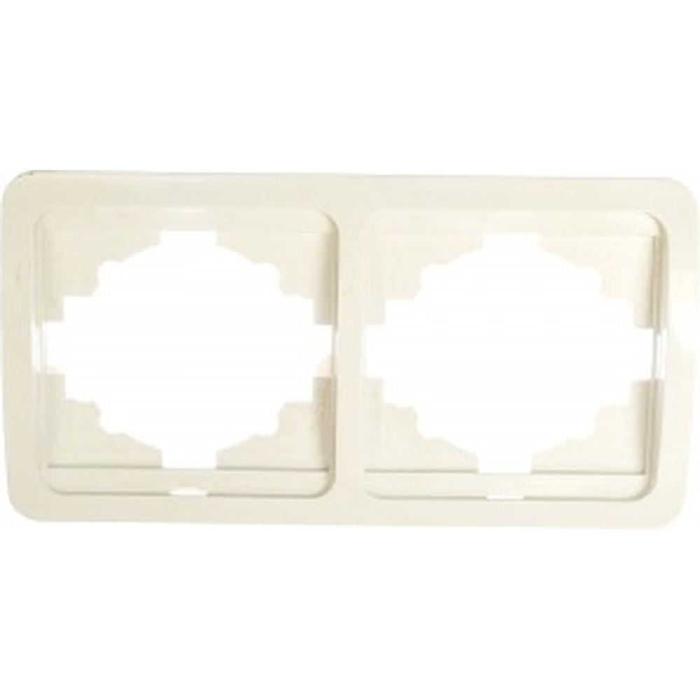 Двойная горизонтальная рамка, белая TDM Валдай SQ1804-0017