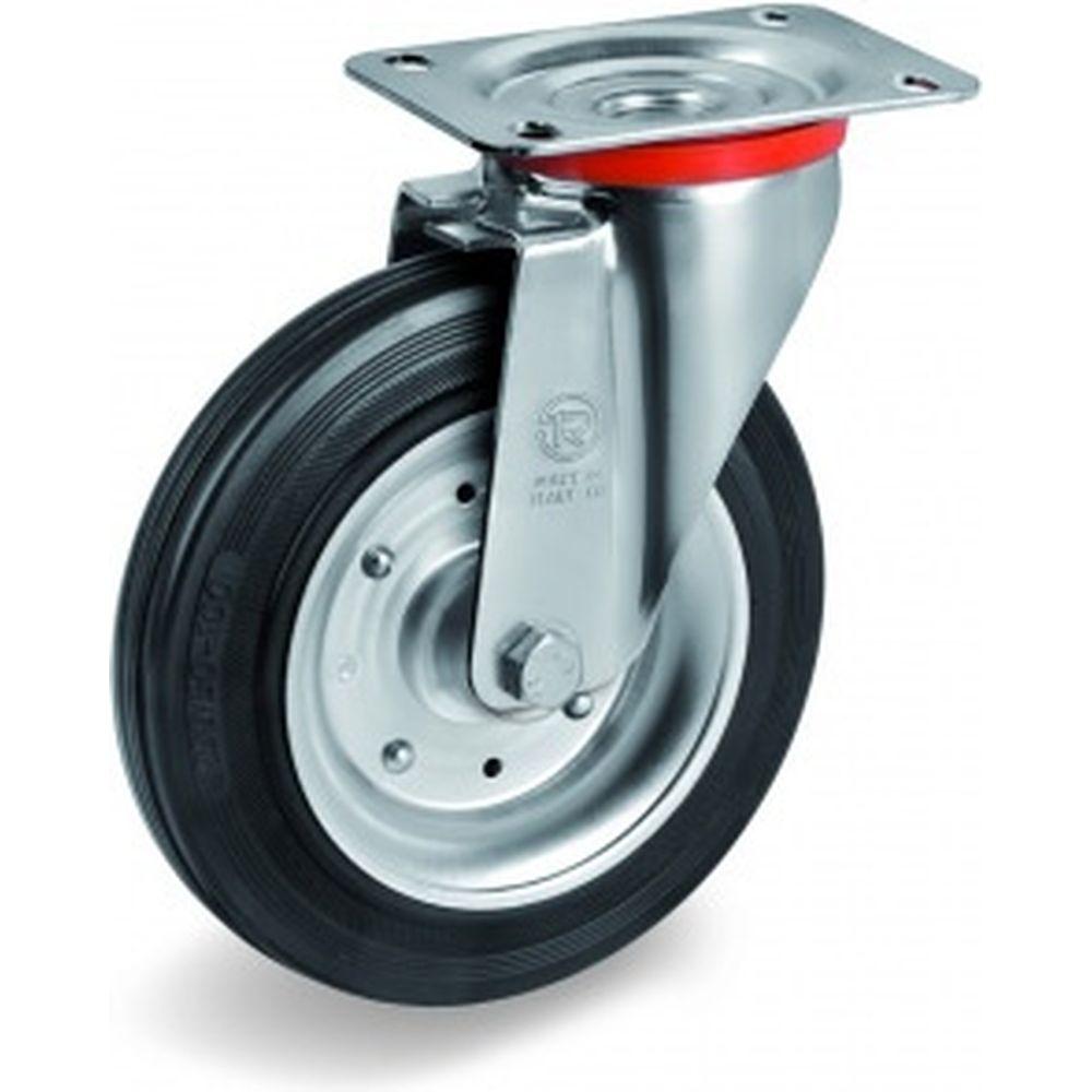 Колесо с вращающейся опорой и пластиной крепления (200 мм; 230 кг) Tellure rota 535106