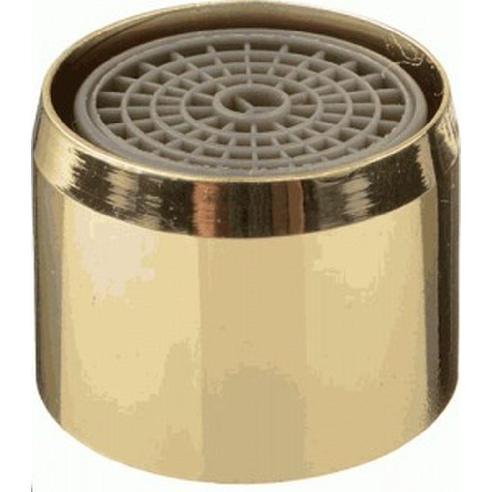 Аэратор Terma M22х1, латунь, внутренняя резьба, пластиковая сетка, золото 20530 34009