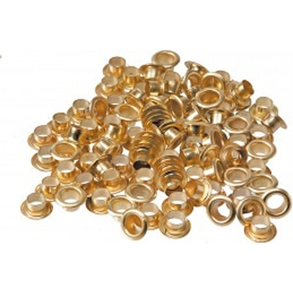 Люверсы для ручного заклепочника Top Tools  цвет mix (золото и серебро), 200 шт, диаметр 5мм 32D420