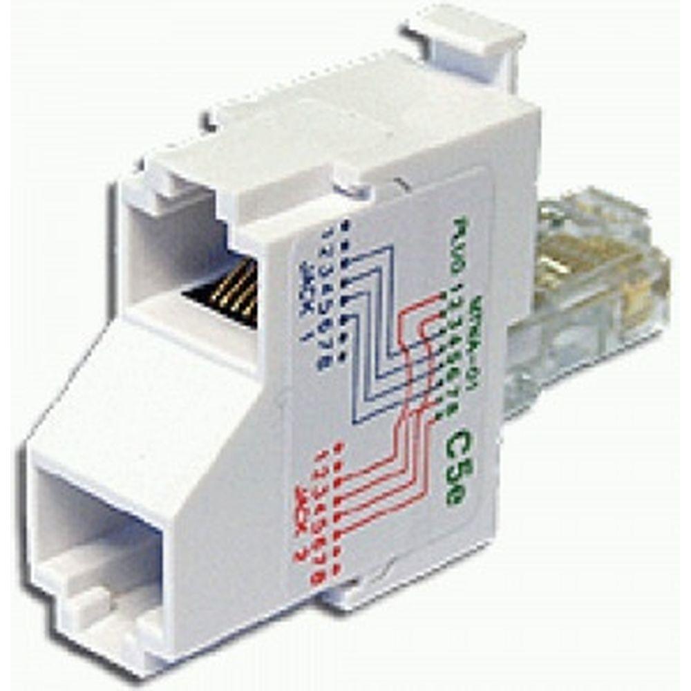 T-адаптер TWT, 2 телефонных порта, категория 5e T-U2-U2