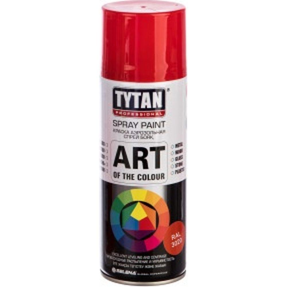 Аэрозольная краска TYTAN PROFESSIONAL ART OF THE COLOUR RAL3020, красная 400мл 93649