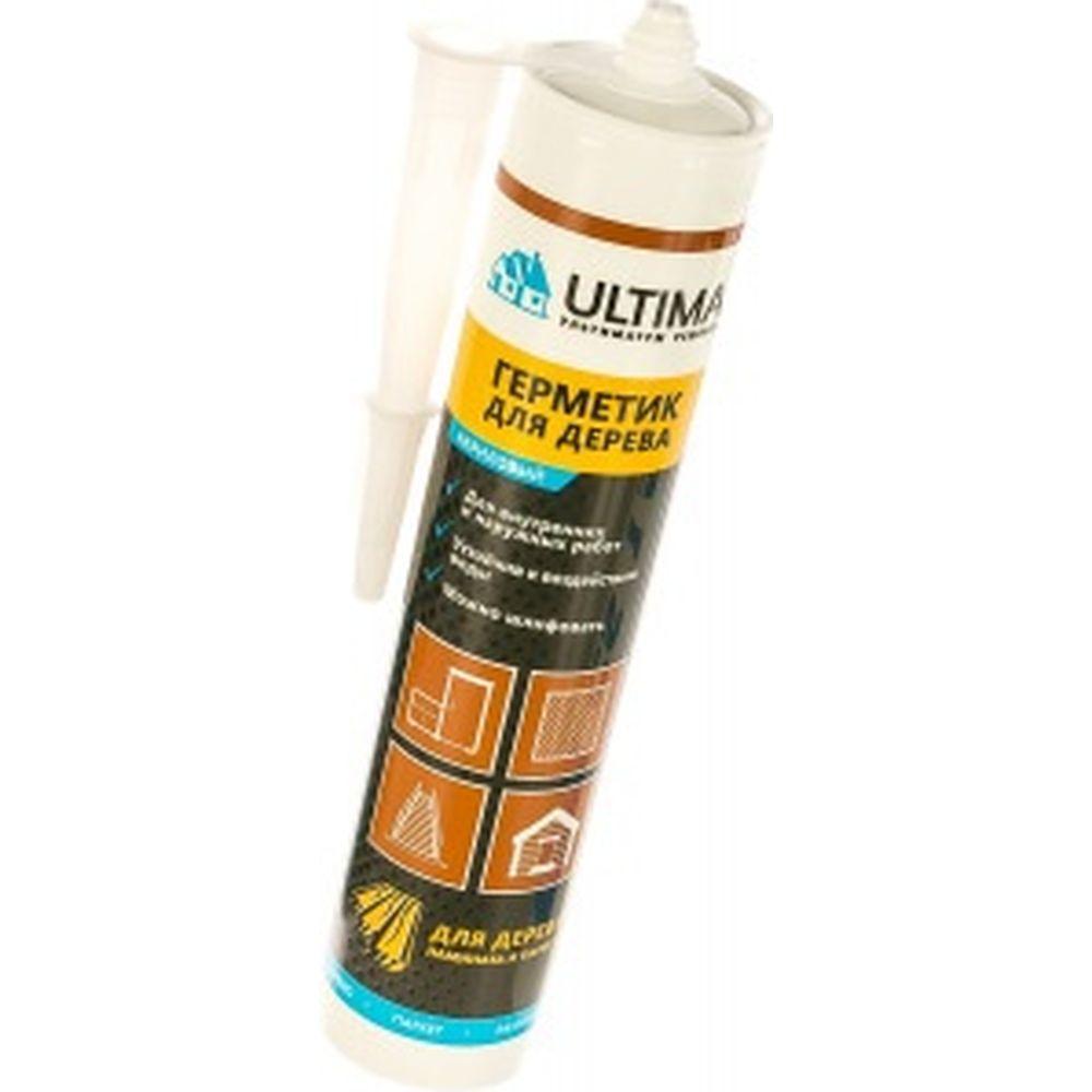 Акриловый герметик для дерева ULTIMA серый 300 гр ULTS300
