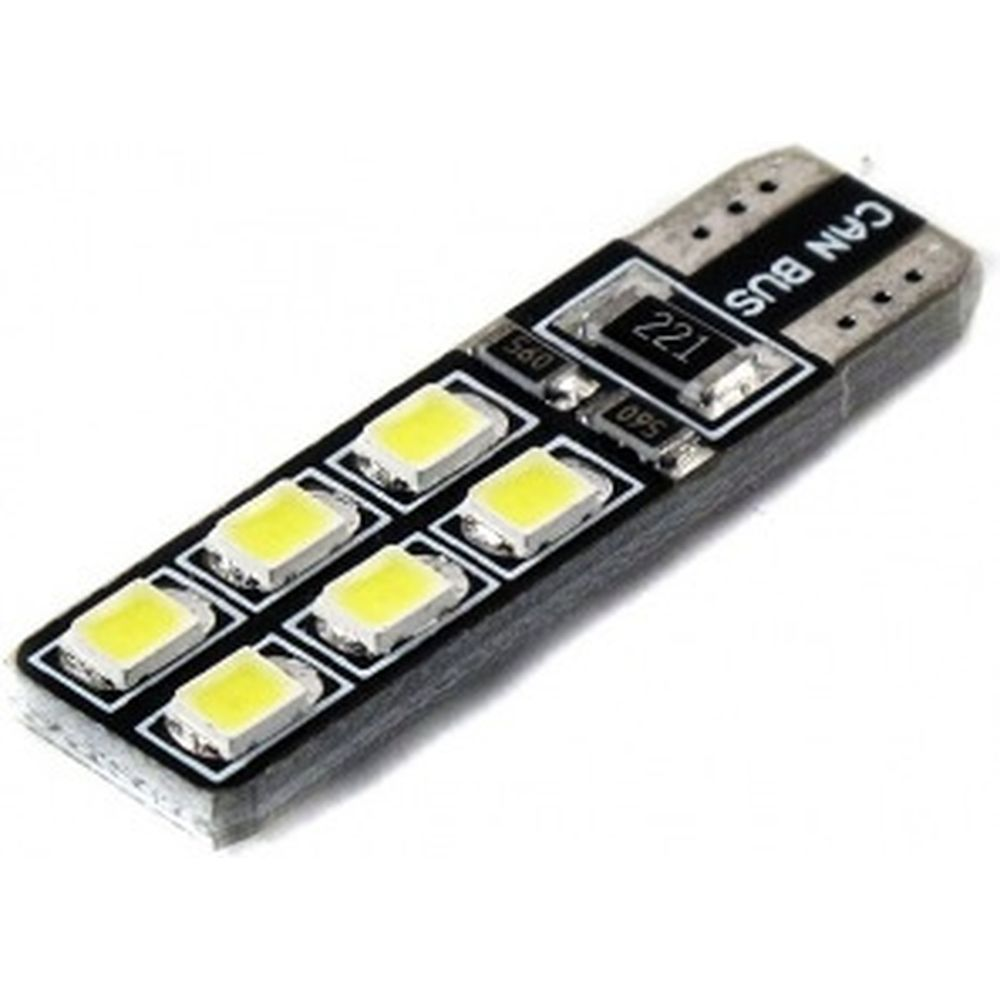 LED лампа Вымпел T10-W5W 12SMD 2835 CAN BUS WHITE 5121 (2 шт.)