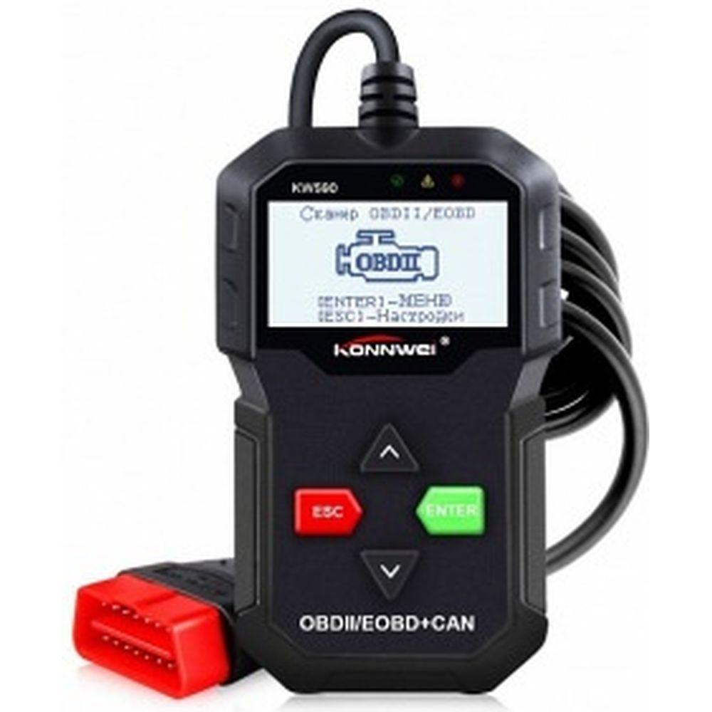 Автосканер Вымпел Konnwei KW590 ч/б экран, маленький корпус, русский язык, все протоколы 3128