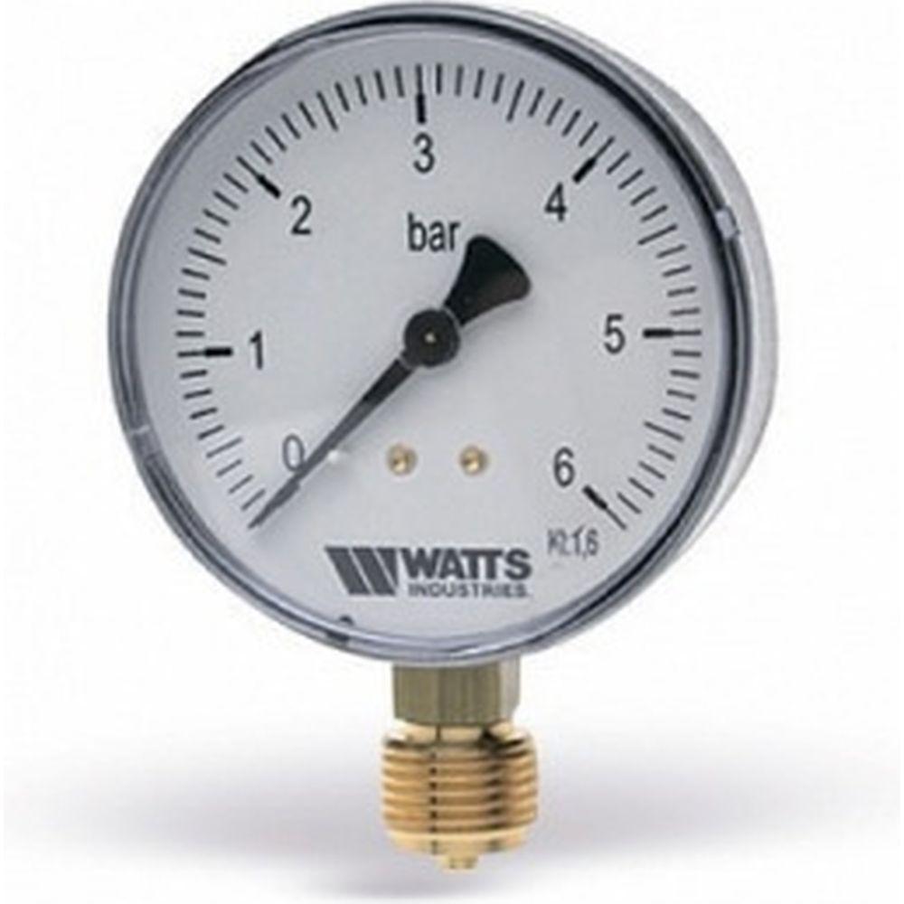 Watts Манометр радиальный F+R250 0-10 бар, корпус 100mm 1/2