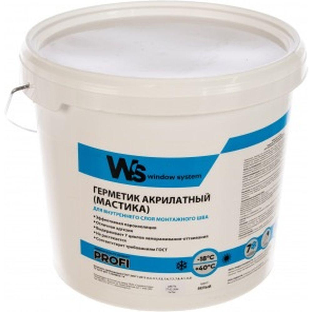 Акриловый герметик WINDOW SYSTEM белый, ведро 7 кг WSins007