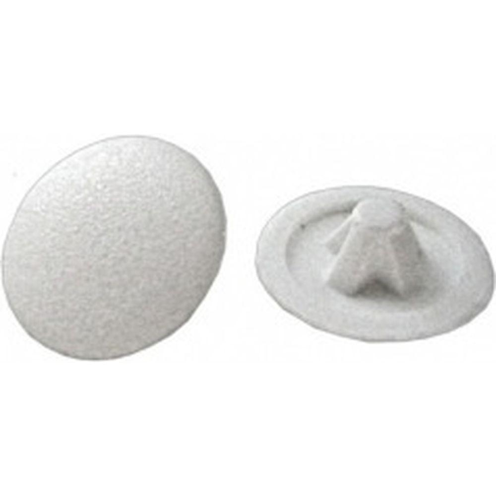 Декоративная заглушка под шуруп Зубр цвет белый, шлиц №2, ТФ6, 40шт 4-308156-3