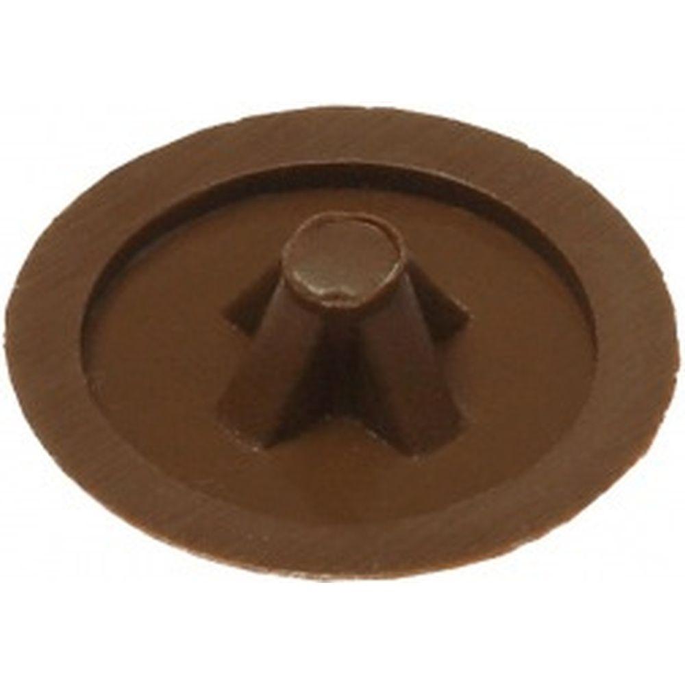 Декоративная заглушка под шуруп Зубр цвет дуб, шлиц №2, ТФ6, 40шт 4-308156-1